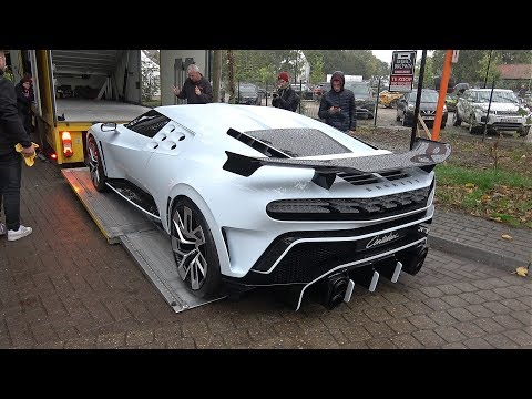 $9.0 Million Bugatti Centodieci Being Loaded Onto A Trailer & Moving @ Zoute Grand Prix