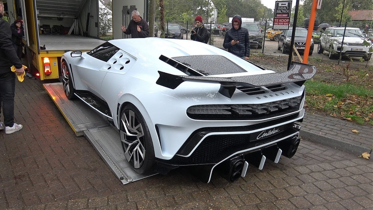 $9.0 Million Bugatti Centodieci Being Loaded Onto A Trailer & Moving @ Zoute Grand Prix