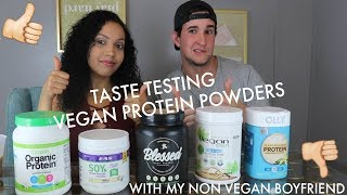 Taste Testing Vegan Protein Powders With Non Vegan Boyfriend