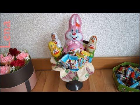 blumenstrauß-aus-schokolade-zu-ostern-basteln-🐇-easter-candy-bouquet-diy---Букет-из-конфет