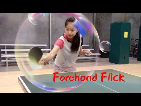 27. How to play forehand flick ——Yangyang's table tennis lessons