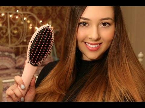 Вопрос: Как выпрямить волосы с помощью плойки?