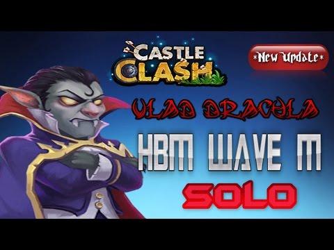 Castle Clash [HD] - Vlad SOLO HBM Wave M (No Troops, No Garrisons)