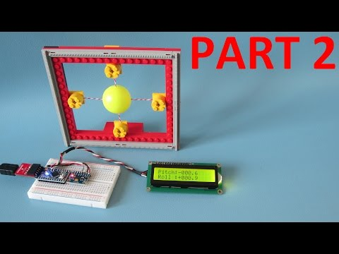 MPU-6050 6dof IMU tutorial for auto-leveling quadcopters with Arduino source code - Part 2