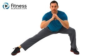 Low Impact Lower Body and Core Tabata Workout - Tabata Style Low Impact Workout