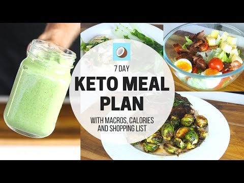 KETOGENIC DIET Meal Plan - 7 DAY FULL MEAL PLAN for Beginners