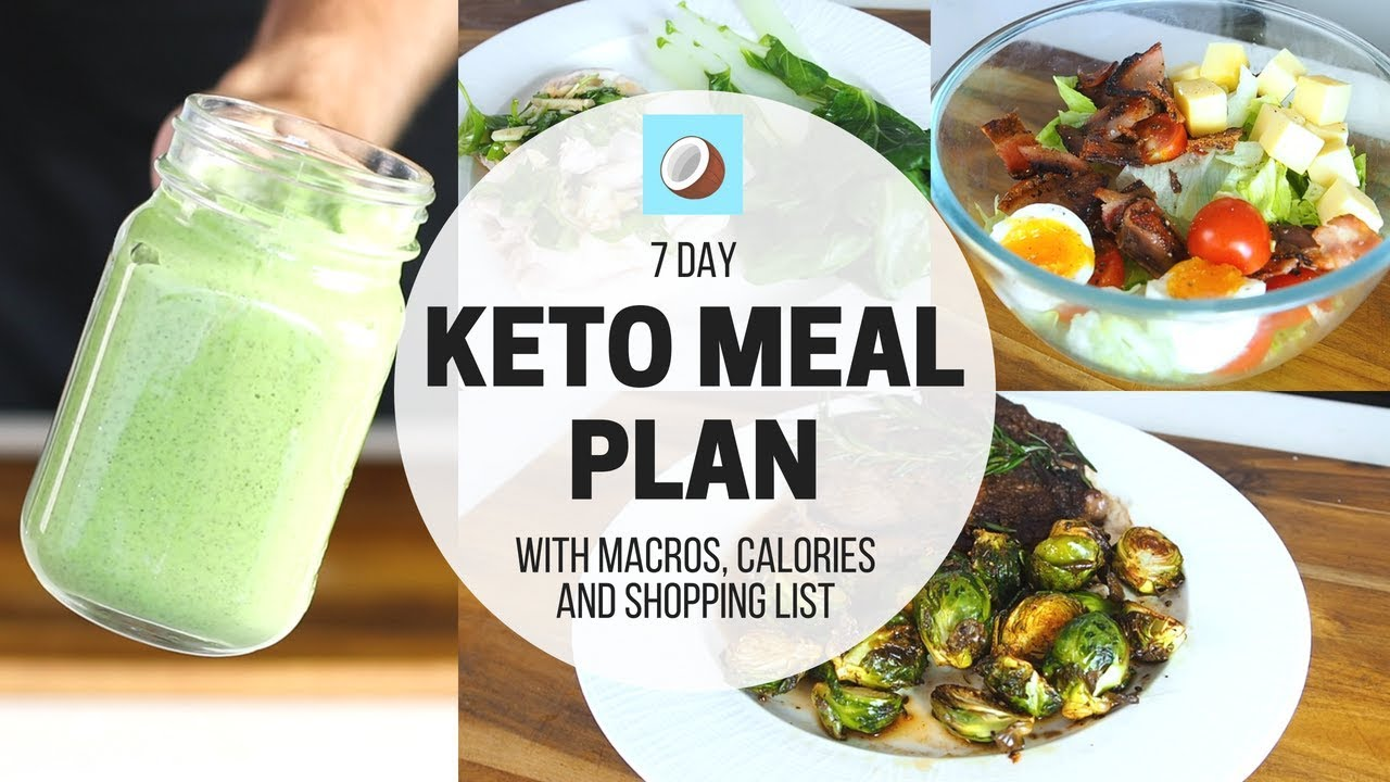 Ketogenic Diet Meal Plan 7 Day Full Meal Plan For Beginners Youtube