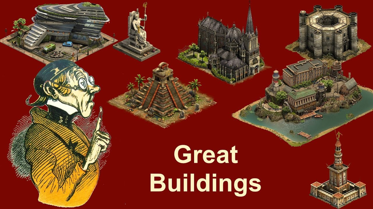 Foehints Great Buildings In Forge Of Empires Youtube