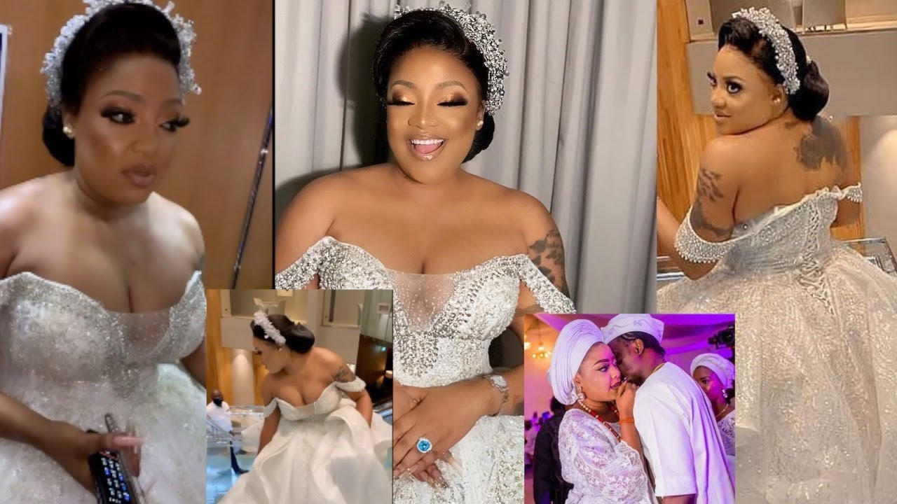 Download Tayo Sobola & Her Husband Shed Hot Tears As They Exchange Their Vows, CONGRATULATIONS