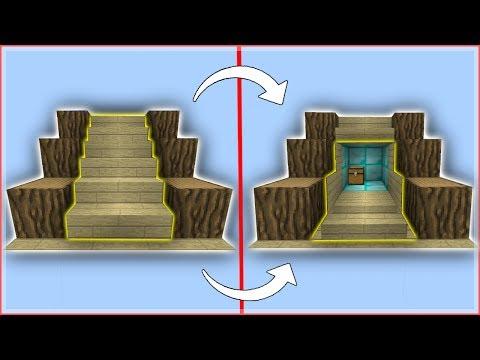 Mcpe Tutorials: Secret/Hidden Staircase (Hidden Base)