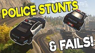 POLICE STUNTS & EPIC FAILS! - Flashing Lights Multiplayer Gameplay - Police Simulator