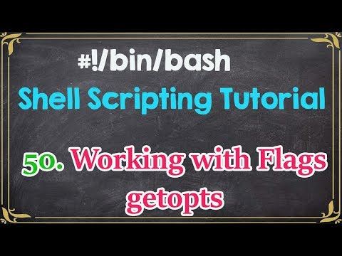 Command line arguments with getopts linux shell programming bash.
