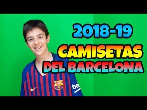 UNBOXING CAMISETAS DE FÚTBOL DEL FC BARCELONA LOCAL Y VISITANTE 2018 2019