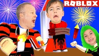 FIREWORKS SIMULATOR CHALLENGE (Roblox) Who Has the Best Fireworks? Family Gaming