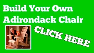 How To Build An Adirondack Chair :: Diy Adironack Chair Plans