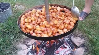 Картошка на сковородке из диска