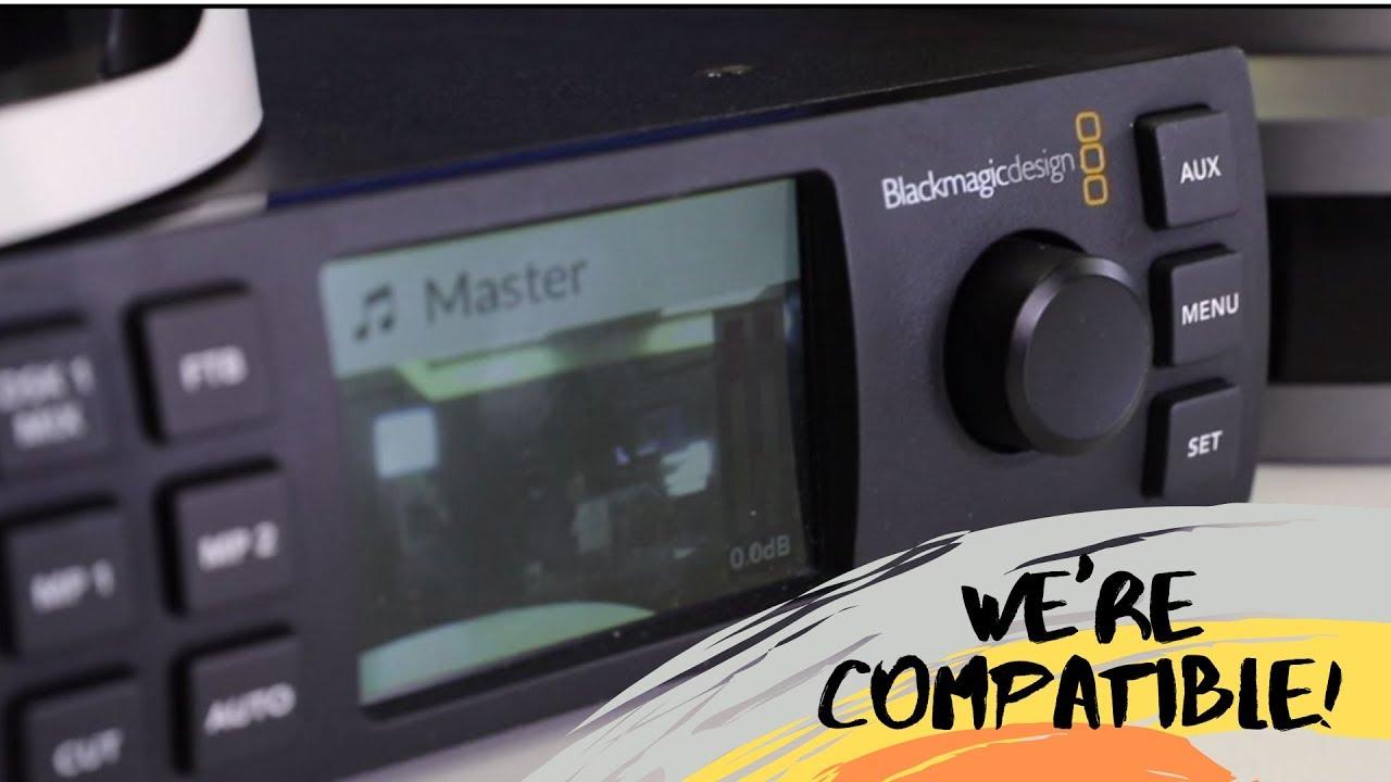 Ptzoptics Compatibility With Black Magic Atem Television Studio Hd Youtube