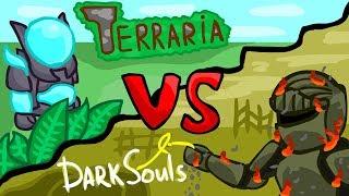 Terraria vs. DarkSouls Battle Animation