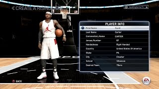 NBA LIVE 15 PS4 RISING STAR MODE - SLASHING SF DAVID CARTER CREATION