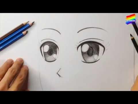 Vẽ mắt theo phong cách manga, anime, chi bi | Bibabibo Channel