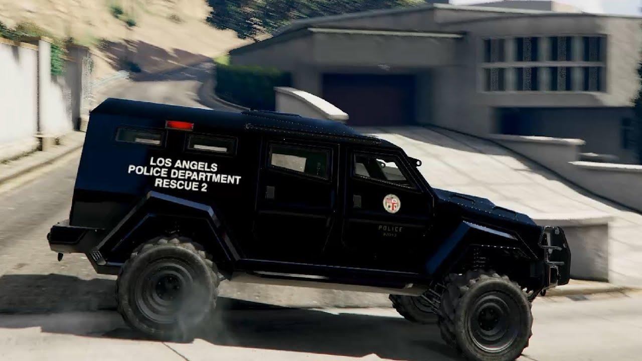 LAPD SWAT Insurgent - GTA V - YouTube