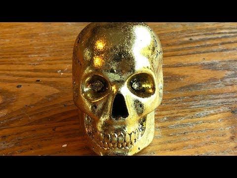 Making a Gold Leaf Skull Resin Sphere