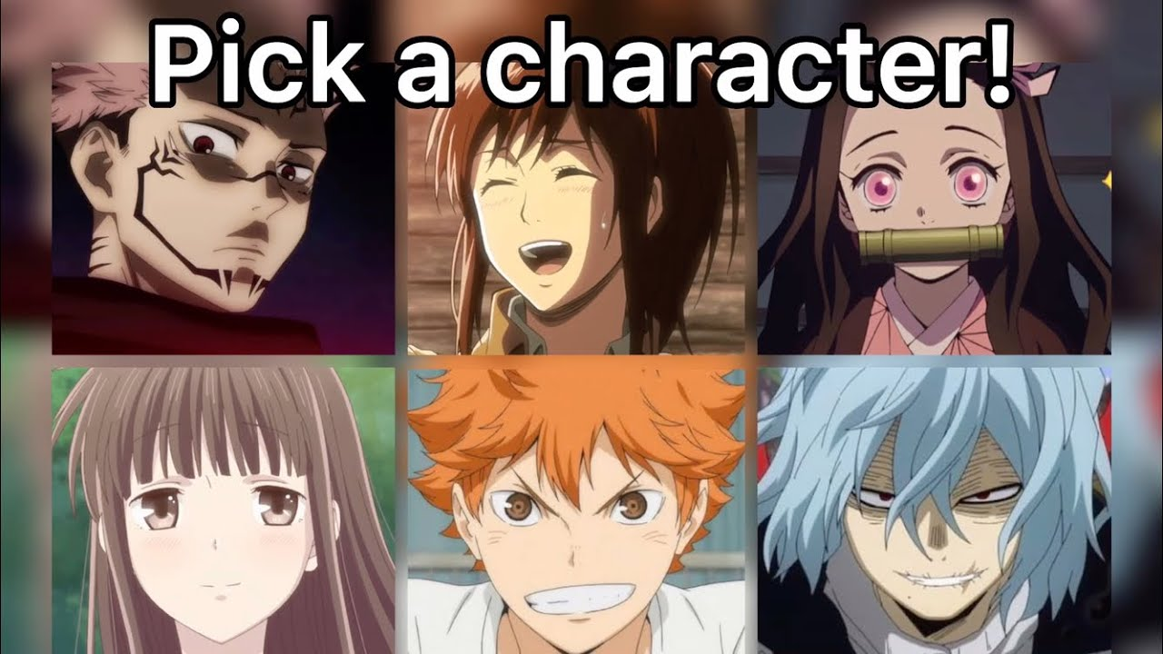 PICK AN ANIME CHARACTER! DOUBLES EDITION