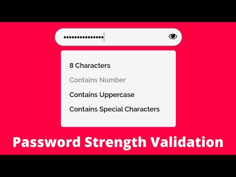 How To Create Password Strength Checker / Password Policy Validation Using HTML, CSS & JavaScript