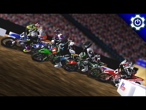 MX Simulator - 2017 MotoOption SX Round 12 Livestream - Detroit