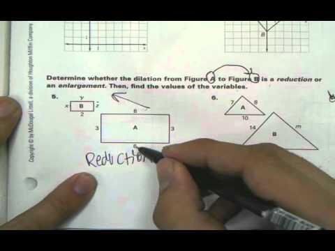 6.7 Dilation Homework Help