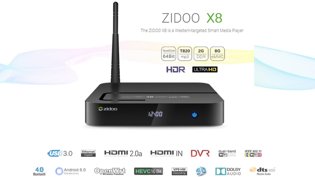 zidoo x8  Zidoo X8 Android TV Box - YouTube