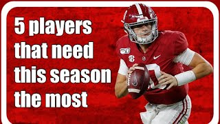 5 players that need this season most: Mac Jones, Najee Harris, Christian Barmore, Chris Allen
