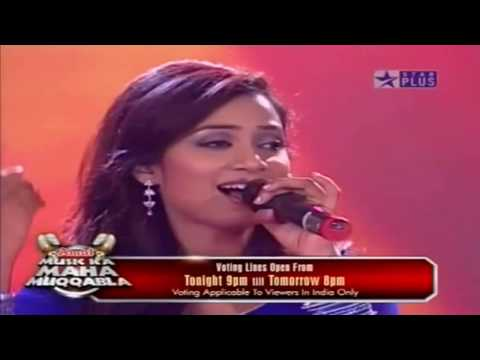 Shreya Ghoshal & Abhaas Singing Wada Raha From Music Ka Maha Muqabla 720p HD