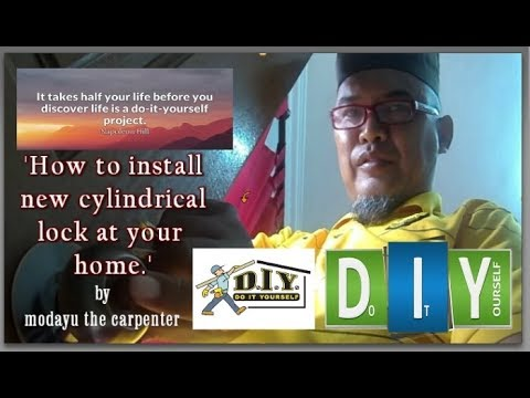 DIY: How to uninstall and install cylindrical lock at your house