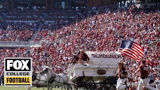 Oklahoma's Sooner Schooner wagon flips over in scary crash   CFB ON FOX