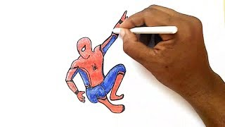 How to Draw Spider-man from Spider-man: Homecoming