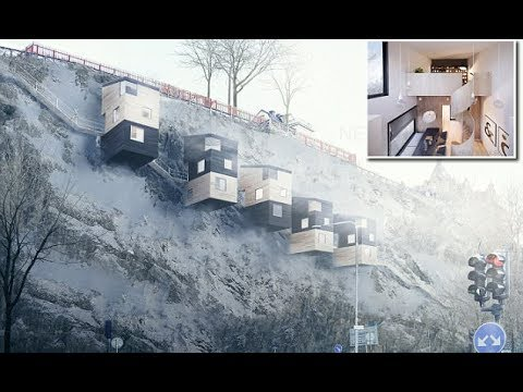 Cliffhanger homes: Swedish architects design human BIRD BOXES that perch on mountainsides