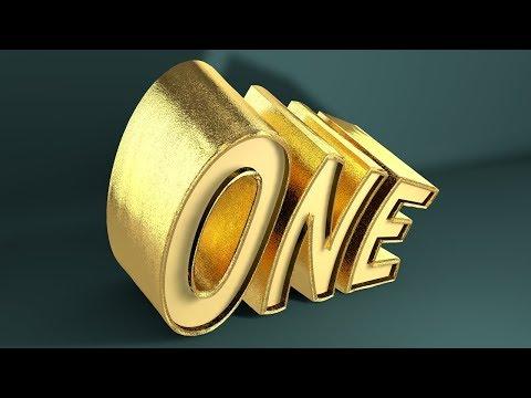 Matte Gold Material   -   Logo  - Cinema 4D Tutorial