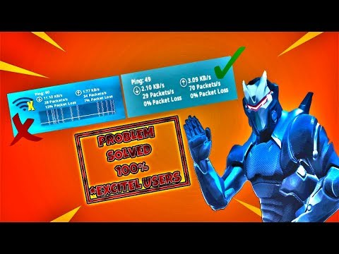 FORTNITE PACKET LOSS FIX // EXCITEL USERS PACKET LOSS SOLVED // 0% PACKET LOSS