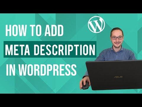How to add meta description in wordpress tutorial thumbnail