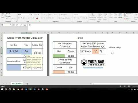 Create a Gross Profit Margin Calculator: Your Bar Consultant