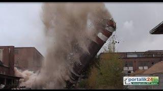 Zniknął jeden z kominów dawnej Celwiskozy