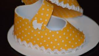 Como fazer sapatinho para chá de bebê em E.V.A