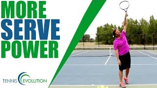TENNIS SERVE   How To Add More Power On Your Serve