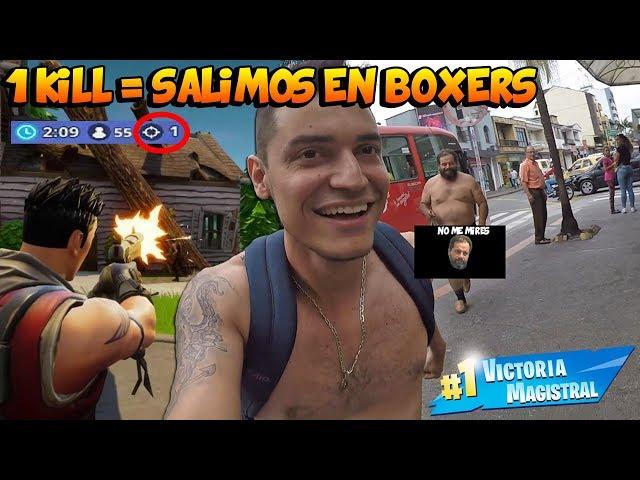 SI HACE 1 KILL SALGO EN BOXERS A LA CALLE - Ft. Señor Cocada - TATTOXTREME