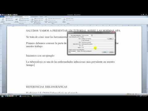 Elaboración de la página de referencia bibliográfica al final del texto. de YouTube · Duración:  5 minutos 37 segundos