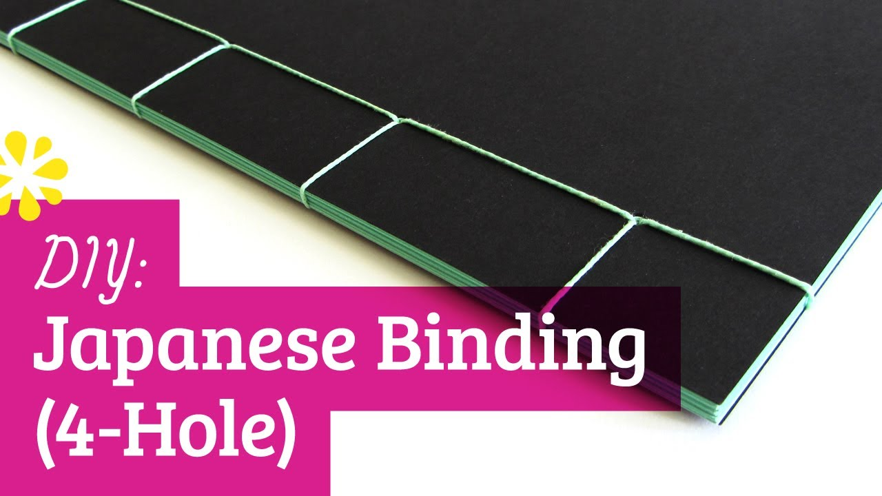 Diy japanese bookbinding tutorial 4 hole sea lemon youtube solutioingenieria Choice Image