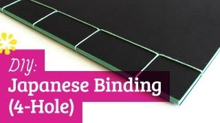 DIY Japanese Bookbinding Tutorial | 4-Hole | Sea Lemon