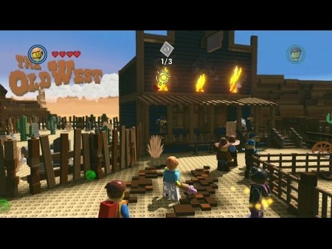 The LEGO Movie Videogame - Free Roam Gameplay / The Old West Hub ...