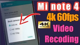 How To Record 4K Videos In Redmi Note 4